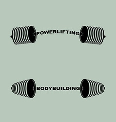 Set sports logos barbell bodybuilding and vector image vector image
