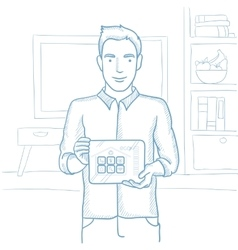 Smart home application sketch vector