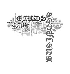 What does your business card say text word cloud vector