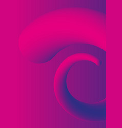 fluid background liquid plastic shapes with ultra vector image vector image