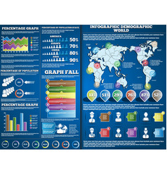 INFOGRAPHIC DEMOGRAPIC BLUE 2 vector image