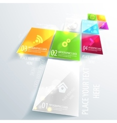 Modern business infographic design Use for vector image vector image