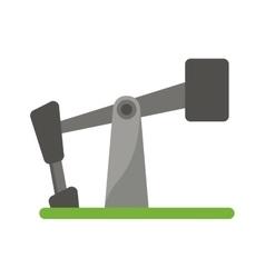 oil pump drilling petroleum industry vector image