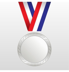 Silver medal winners on the tape vector image