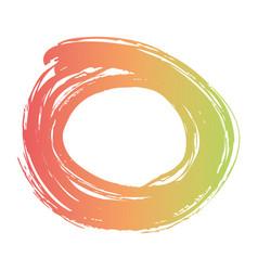 brush ink paint circle stroke blotch design vector image