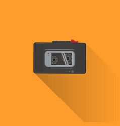 dictaphone or tape recorder icon with shadow on vector image