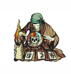 fortune teller vector image