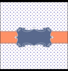 retro greeting card template vector image vector image