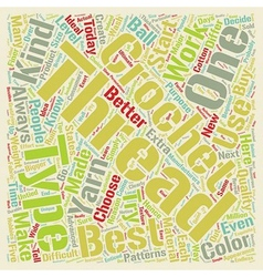 Crochet thread text background wordcloud concept vector