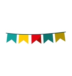 garlands circus isolated icon vector image