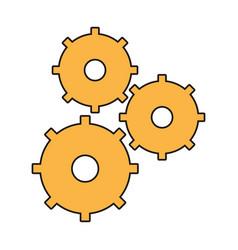 gear wheel team work vector image vector image
