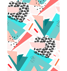 hand drawn abstract textured colorful vector image vector image