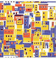 mediterranean town sunny village indian slums vector image