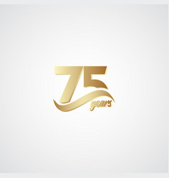 75 years anniversary celebration elegant gold vector