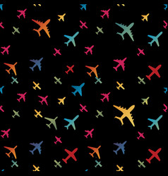Airplane seamless background aircraft vector