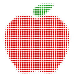 apple halftone icon vector image