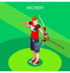 Archery 2016 Summer Games 3D Isometric vector image