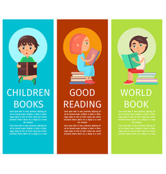 Articles about children books vector