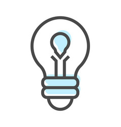 artificial intelligence icon with lamp symbol vector image