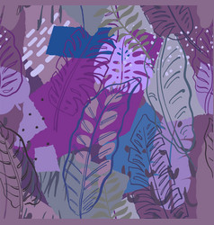 Beautiful seamless pattern with ropical jungle vector