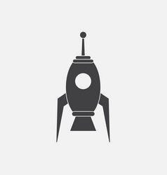 Black icon on white background space rocket vector