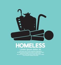 Black Symbol Graphic Of Homeless vector image