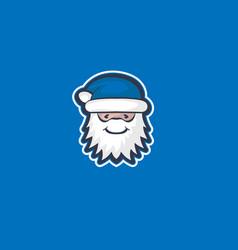 blue santa claus vector image