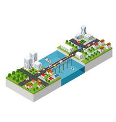 Bridge skyway vector