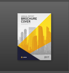 Brochure cover design template for real estate vector