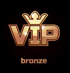 Bronze vip symbol set 3 vector