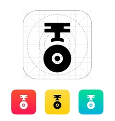 Camera for copter icon vector