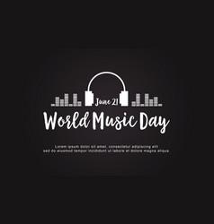 celebration world music day style background vector image