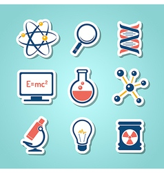 Chemistry and science paper cut icons vector