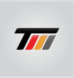 Creative letter tm logo concept design vector