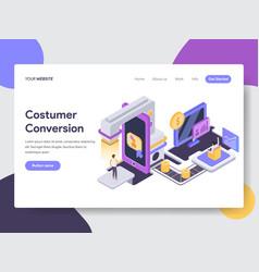 Customer conversion isometric vector