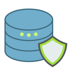 data protection flat icon seo and development vector image