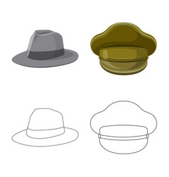 design of headgear and cap logo set of vector image