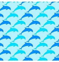 Dolphins are all around vector image
