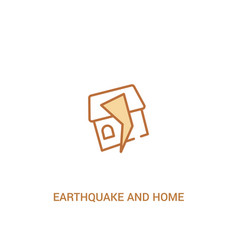 Earthquake and home concept 2 colored icon simple vector