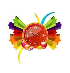 elegance clock vector image