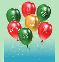 festive background with gold and green and red vector image