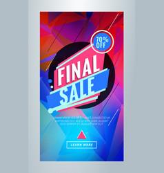final sale editable templates for social media vector image
