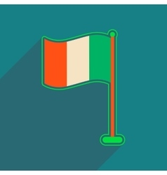 Flat web icon with long shadow flag of Ireland vector