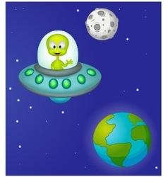 Funny cartoon alien vector image
