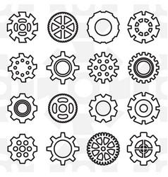 Gear or cog icon vector
