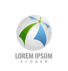 globe media global concept design symbol graphic vector image