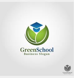 Green school - nature education outdoor education vector