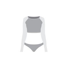grey sportswear mockup vector image