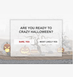 halloween party landing page poster with hell vector image