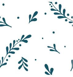 hand drawn branch seamless pattern vector image